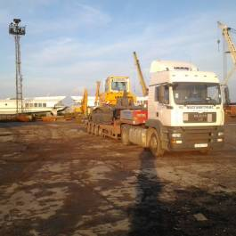 Organization of transshipment of construction equipment in Ulyanovsk and further road transportation, maximum freight weight 33 tons